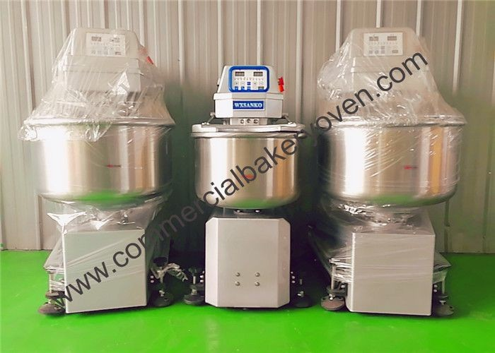Wear Resistance Countertop Spiral Mixer , High Torque Stand Dough Mixer
